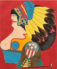 miss american indian from after noon by richard lindner