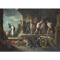 venus at the forge of vulcan or an alegory of fire by matheus van helmont