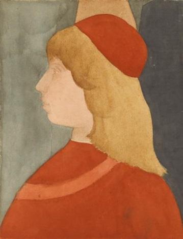 jeune homme vu de profil copie dapres les funérailles de st baernardin de pinturicchio by edgar degas