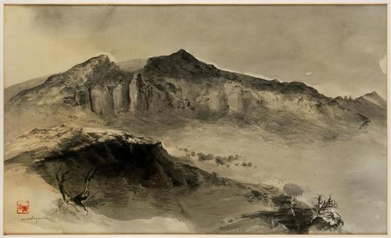 paisaje del tepozteco by luis nishizawa