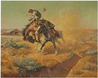 hazing the bronc by charlie dye