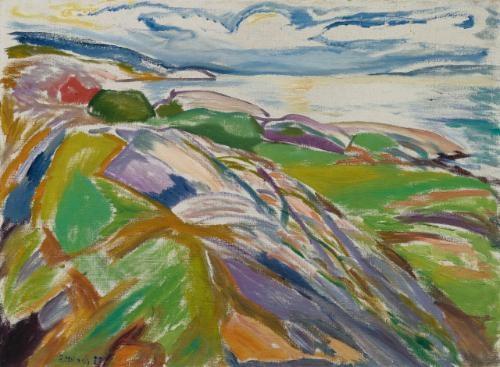 kystlandskap fra hvitsten (coastal landscape at hvitsten) by edvard munch