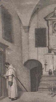 sacerdote en la sacristia by domenico pesenti
