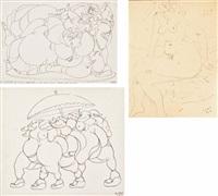 gibbo; levana; gibbone (3 works) by tono zancanaro