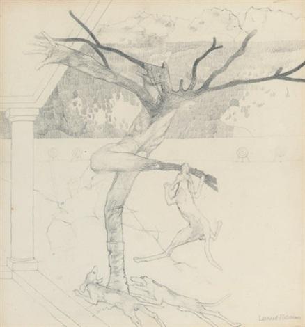 death of actaeon study by leonard rosoman