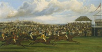 derby stakes, the start and derby stakes, the finish (2 works) by samuel henry alken