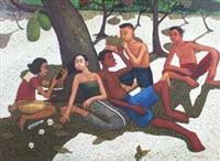 bersantai di bawah pohon by machfudz