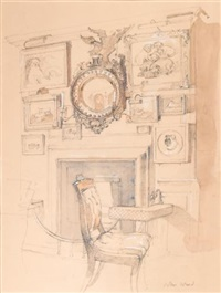 annabel's, the fireplace by john stanton ward
