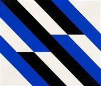 schwarz-blau diagonal by frank badur