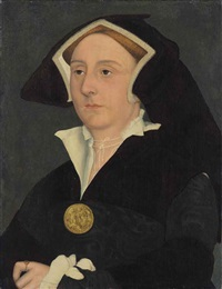 portrait of elizabeth jenks, lady rich (d. 1558) by hans holbein the younger