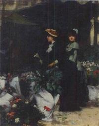 jeunes femmes aux fleurs by alphonse marx