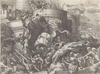 die eroberung von karthago, nach giulio romano by georg pencz