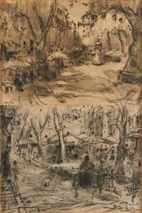 marseille (2 works) by adrien jean le mayeur de merprés