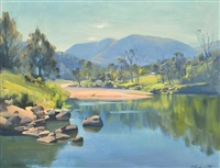 burragorang valley, nsw by ernest william buckmaster