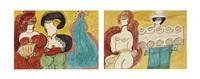 los von zwei werken: l'épouse de mexics, um 1963-64 tourte de mexico, um 1963-64 (2 works) by aloise