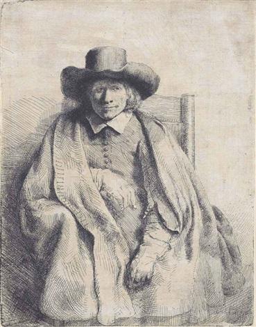 clement de jonghe printseller by rembrandt van rijn