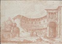 cour d'une villa contre by jean-robert ango