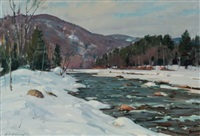 vermont snow by aldro thompson hibbard