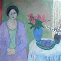 lady sitting by cynthia packard