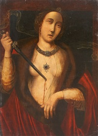 lukretia by master of saint sang