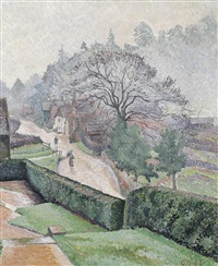 coldharbour from roffy's (from roffy) by lucien pissarro
