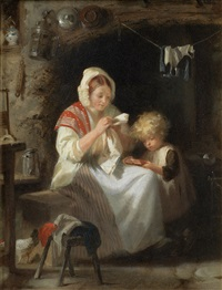 reading to mother by john morgan