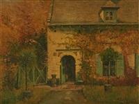la maison de l'artiste au rouge-cloître by alfred théodore joseph bastien