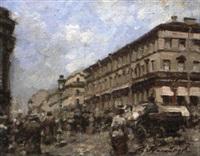 rue animée by dmitri mikhailov