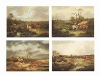 the off; on the scent; across the fields; the kill (4 works) by dean wolstenholme the elder