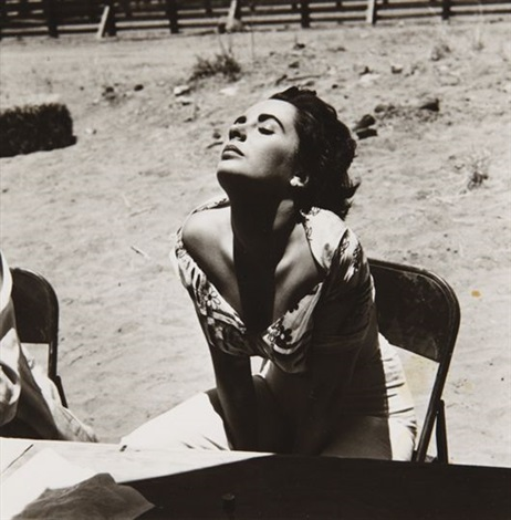 elizabeth taylor on the set of giant marfa texas by sid avery