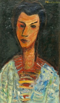 portrait of a woman by pinchas abramovich