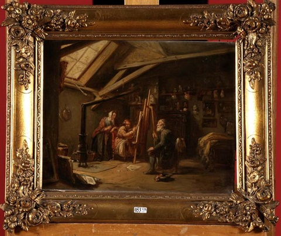 dans latelier du peintre by theodore bernard de heuvel