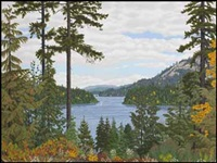 looking north over shawnigan lake by edward john hughes