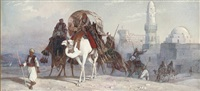 the desert caravan, egypt by joseph austin benwell