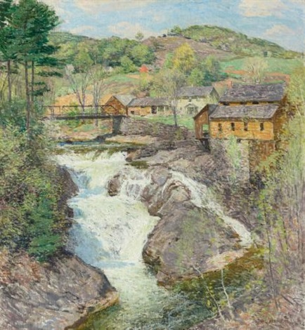 the falls by willard leroy metcalf