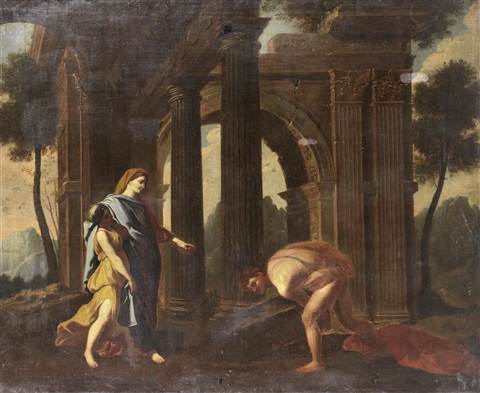 theseus finding his fathers sword by nicolas poussin