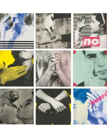 we will no longer be seen and not heard set of 9 by barbara kruger