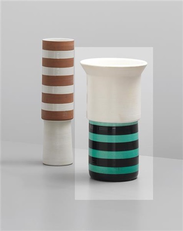 vase, model no. 916 (from the ceramiche series) by ettore sottsass