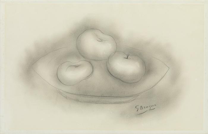 nature morte aux pommes by georges braque