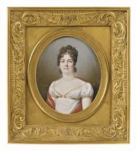 portrait de dame traditionnellement appelée marie-thérèse, duchesse d'angoulême by jean baptiste jacques augustin