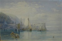 clovelly harbor by samuel phillips jackson