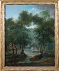 vues de parcs dans l'ile de france (pair) by claude louis châtelet