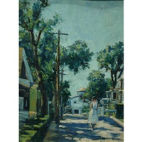 sunlit street by harry w. newman