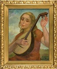 dziewczyna z mandolina by janina bobinska-paszkowska
