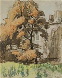 drzewo w jesiennych barwach by jean misceslas peské