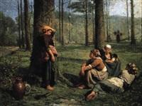ramasseuses de bois by pierre billet