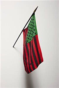 african american flag by david hammons