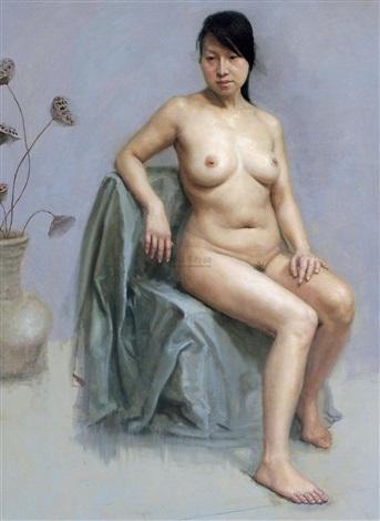 枯荷和少女 by liu shuang