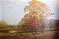autumn landscape by alfred oliver townsend