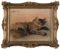 chatte et ses chatons endormis by henriette ronner-knip